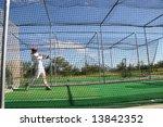 Practicing Hitting Baseball In...