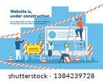 the website is under... | Shutterstock .eps vector #1384239728