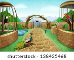 Bird Park Illustration Concept...