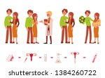 doctor and couples with and... | Shutterstock .eps vector #1384260722