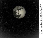full moon and stars.  raster... | Shutterstock . vector #138426596