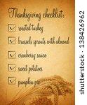 thanksgiving checklist...   Shutterstock . vector #138426962