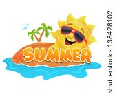 summer theme | Shutterstock .eps vector #138428102