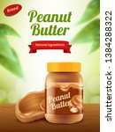 peanut butter advertising.... | Shutterstock .eps vector #1384288322
