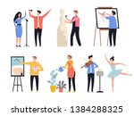 creative profession. hobby... | Shutterstock .eps vector #1384288325