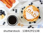 fathers day pancakes with heart ... | Shutterstock . vector #1384292138