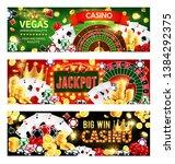 casino gambling games  wheel of ... | Shutterstock .eps vector #1384292375