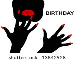 american sign language signing... | Shutterstock . vector #13842928