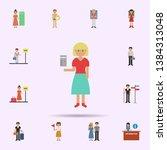 ticket  woman cartoon icon....   Shutterstock .eps vector #1384313048