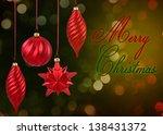 merry christmas illustration  4 ... | Shutterstock . vector #138431372