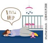 postpartum or postnatal... | Shutterstock .eps vector #1384319288