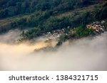 samaba rice terrace fields in... | Shutterstock . vector #1384321715