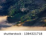 samaba rice terrace fields in... | Shutterstock . vector #1384321718