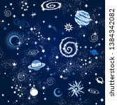 space galaxy constellation... | Shutterstock .eps vector #1384342082