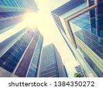 beautiful skyscraper with... | Shutterstock . vector #1384350272
