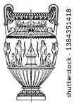 antique state amphora  is made...   Shutterstock .eps vector #1384351418