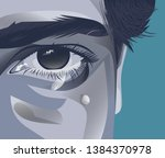 illustration of a teenager who... | Shutterstock .eps vector #1384370978
