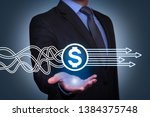 finance solution concepts on... | Shutterstock . vector #1384375748