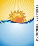 sun background | Shutterstock .eps vector #138440858