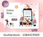 online shop vector website...   Shutterstock .eps vector #1384419005