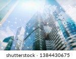 double exposure mixed media.... | Shutterstock . vector #1384430675