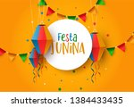 festa junina holiday... | Shutterstock .eps vector #1384433435