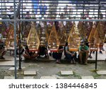 a bird singing contest event in ...   Shutterstock . vector #1384446845