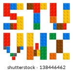 playing brick toy alphabet... | Shutterstock .eps vector #138446462