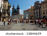the old twon square  prague | Shutterstock . vector #13844659