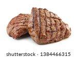 grilled beef fillet steak meat... | Shutterstock . vector #1384466315