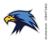 eagle furious mascot logo... | Shutterstock .eps vector #1384471862