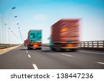 container truck on the cross... | Shutterstock . vector #138447236