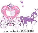 vintage fairytale horse... | Shutterstock .eps vector #138450182