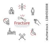 bone fractures banner  line... | Shutterstock .eps vector #1384503008