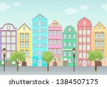Street With Colorful Houses ...