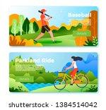 vector set of bright banner... | Shutterstock .eps vector #1384514042