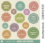labels and stickers set 1 | Shutterstock .eps vector #138451925