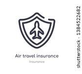 air travel insurance outline... | Shutterstock .eps vector #1384522682