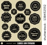 labels and stickers set 2 | Shutterstock .eps vector #138452552