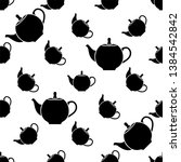 teapot icon seamless pattern ... | Shutterstock .eps vector #1384542842