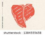 steak  porter house. poster... | Shutterstock .eps vector #1384555658