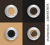coffee excellent drink always.... | Shutterstock .eps vector #1384557875