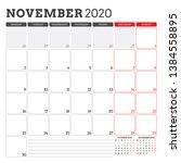 calendar planner for november... | Shutterstock .eps vector #1384558895