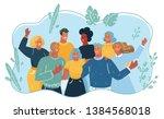 vector cartoon illustration of... | Shutterstock .eps vector #1384568018