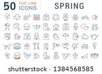 set of vector line icons of... | Shutterstock .eps vector #1384568585