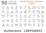 set of vector line icons of... | Shutterstock .eps vector #1384568642