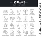 collection linear icons of... | Shutterstock .eps vector #1384568645