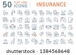 set of vector line icons of... | Shutterstock .eps vector #1384568648