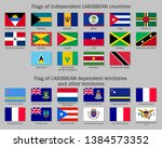 flags of independent caribbean... | Shutterstock .eps vector #1384573352
