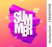 summer abstract gradient... | Shutterstock .eps vector #1384605308